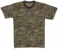 Tricou camuflaj Digital Woodland