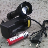 Lanterna POLICE Night Hunter cu ZOOM , lupa .LED: CREE XM-L,stroboscop