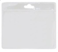Port legitimatie plastic transparent 7cmx9.2cm